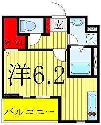 JR山手線 巣鴨駅 徒歩8分の賃貸マンション 1階ワンルームの間取り