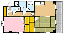 クリスタルハート[5階]の間取り