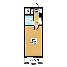 ハイシティ岩田[4階]の間取り