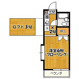 第3泉ハイツ[1階]の間取り