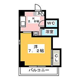 ファビラスマンション[3階]の間取り