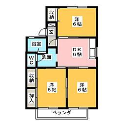 リラコート[2階]の間取り