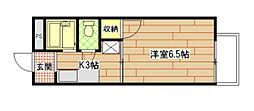 広島県広島市南区皆実町6丁目の賃貸アパートの間取り