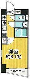 SHOKEN Residence東京八広 9階1Kの間取り