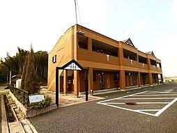福岡県遠賀郡遠賀町大字島津の賃貸アパートの外観