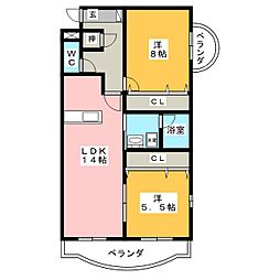エクセレント クリア[4階]の間取り