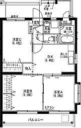 シャルマン・ユミ[1階]の間取り