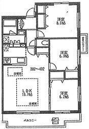 プルミエール茅ヶ崎東[4階]の間取り
