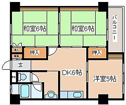 兵庫県神戸市中央区神仙寺通4丁目の賃貸マンションの間取り