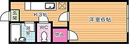 イースピア浅川[2階]の間取り