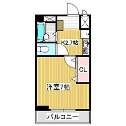 愛知県名古屋市中川区月島町の賃貸マンションの間取り