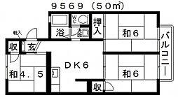 岡澤ハイツ[202号室号室]の間取り