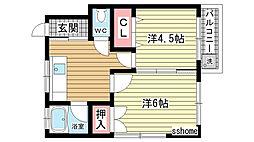 泉マンション[2-6号室]の間取り