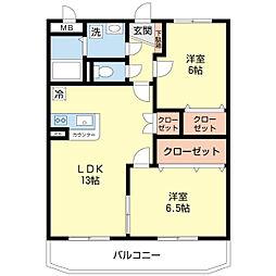 サンノーヴァ坂井東[106号室]の間取り