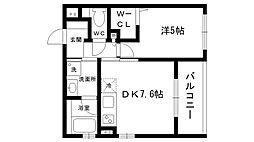 ローズガーデン[1階]の間取り