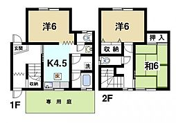 [テラスハウス] 奈良県奈良市西大寺高塚町 の賃貸【/】の間取り