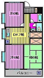 ハピネスマンション[3階]の間取り