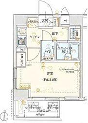 東京都墨田区両国1丁目の賃貸マンションの間取り