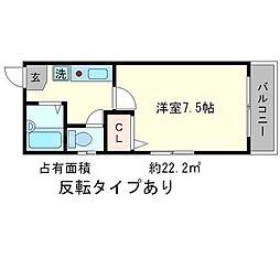 CASA`50[2階]の間取り