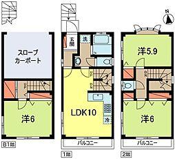 [一戸建] 東京都杉並区和田3丁目 の賃貸【/】の間取り
