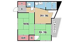 兵庫県神戸市灘区篠原本町2丁目の賃貸アパートの間取り