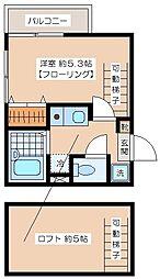 ニューキャスル笹塚北[201号室]の間取り