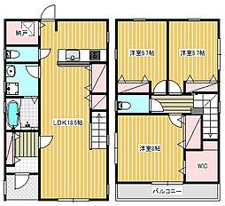 [一戸建] 神奈川県藤沢市花の木 の賃貸【/】の間取り