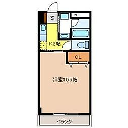 エルハイツ川田[7階]の間取り