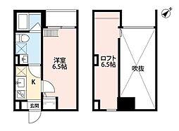 Osaka Metro中央線 朝潮橋駅 徒歩12分の賃貸アパート 1階1Kの間取り