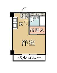 埼玉県八潮市大字二丁目の賃貸マンションの間取り