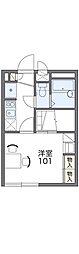 京阪本線 寝屋川市駅 徒歩9分の賃貸アパート 1階1Kの間取り
