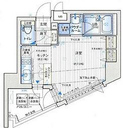 アスヴェル心斎橋東ステーションフロント[13階]の間取り