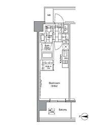 パークハビオ芝浦[6階]の間取り