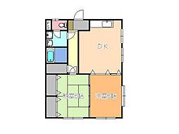 Kレジデンス1[1階]の間取り