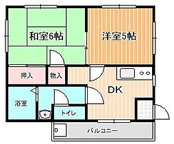 鎌田コーポII bt[301kk号室]の間取り