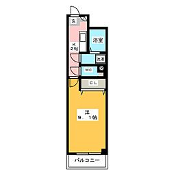 エスティグリーン箱崎[4階]の間取り