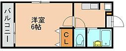スタンドリバー美野島[2階]の間取り