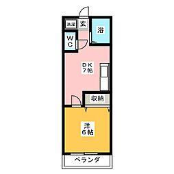 コーポ田専[2階]の間取り