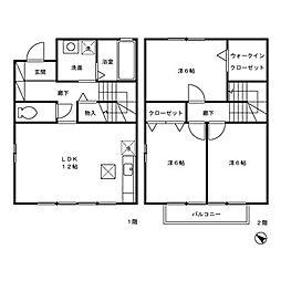 ベルリーヴ B棟[2階]の間取り
