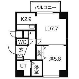 北海道札幌市中央区大通西21丁目の賃貸マンションの間取り