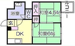 岡産業ビル[404号室]の間取り