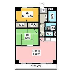 シャルマン冨士塚[3階]の間取り