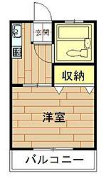 神奈川県川崎市中原区小杉陣屋町1丁目の賃貸アパートの間取り