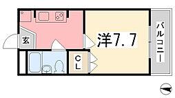 K・X御立[306号室]の間取り