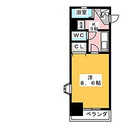 X−OVER 21覚王山[4階]の間取り