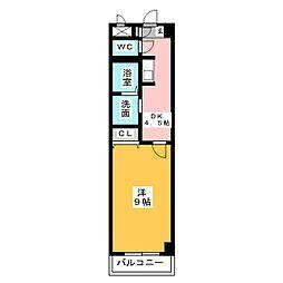 Aire Heiwa[1階]の間取り