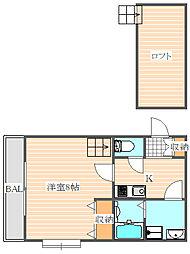 ヴェルフォーレ[1階]の間取り