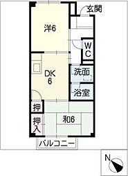 グレイスモリIIA・B棟[2階]の間取り