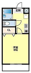 愛知県豊田市井上町10丁目の賃貸マンションの間取り