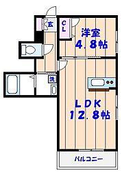千葉県市川市妙典1丁目の賃貸アパートの間取り